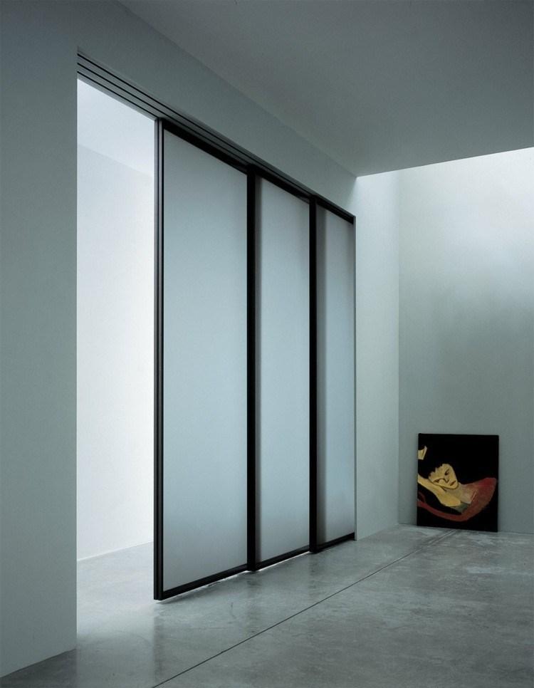 Puerta corredera 50 modelos para un espacio funcional - Puerta corredera cristal bano ...