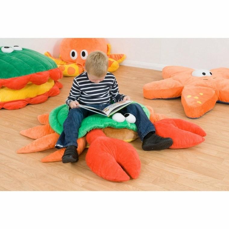 puff animales habitacion nino cojines cangrejo ideas