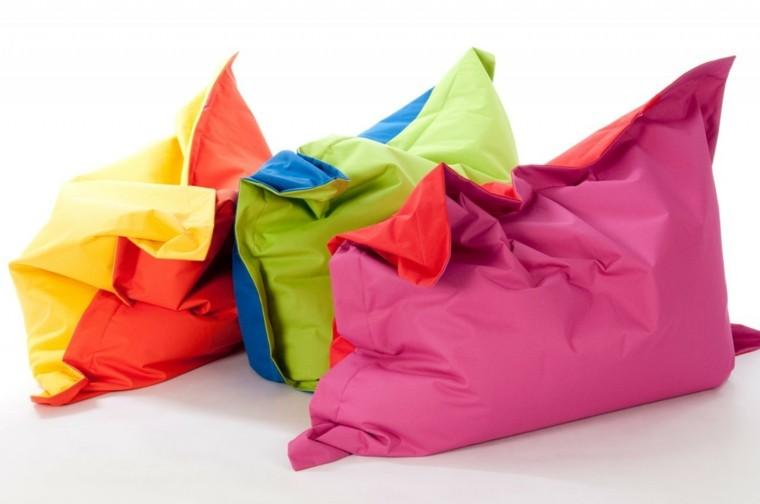 puff distintos colores cojines grandes habitacion nino ideas