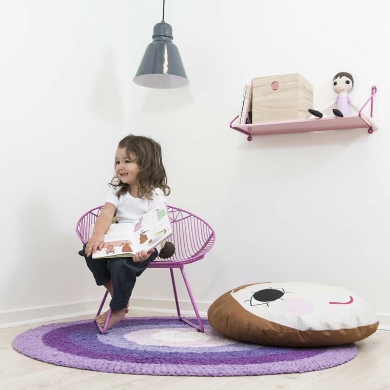 puff habitacion nina colores purpura ideas