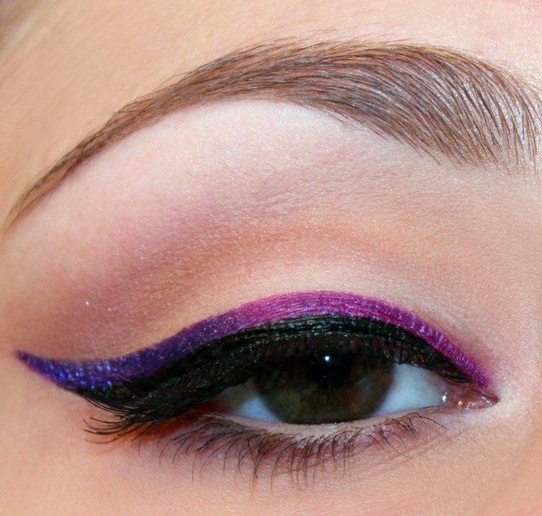 purpura rosa ojos mujer mirada