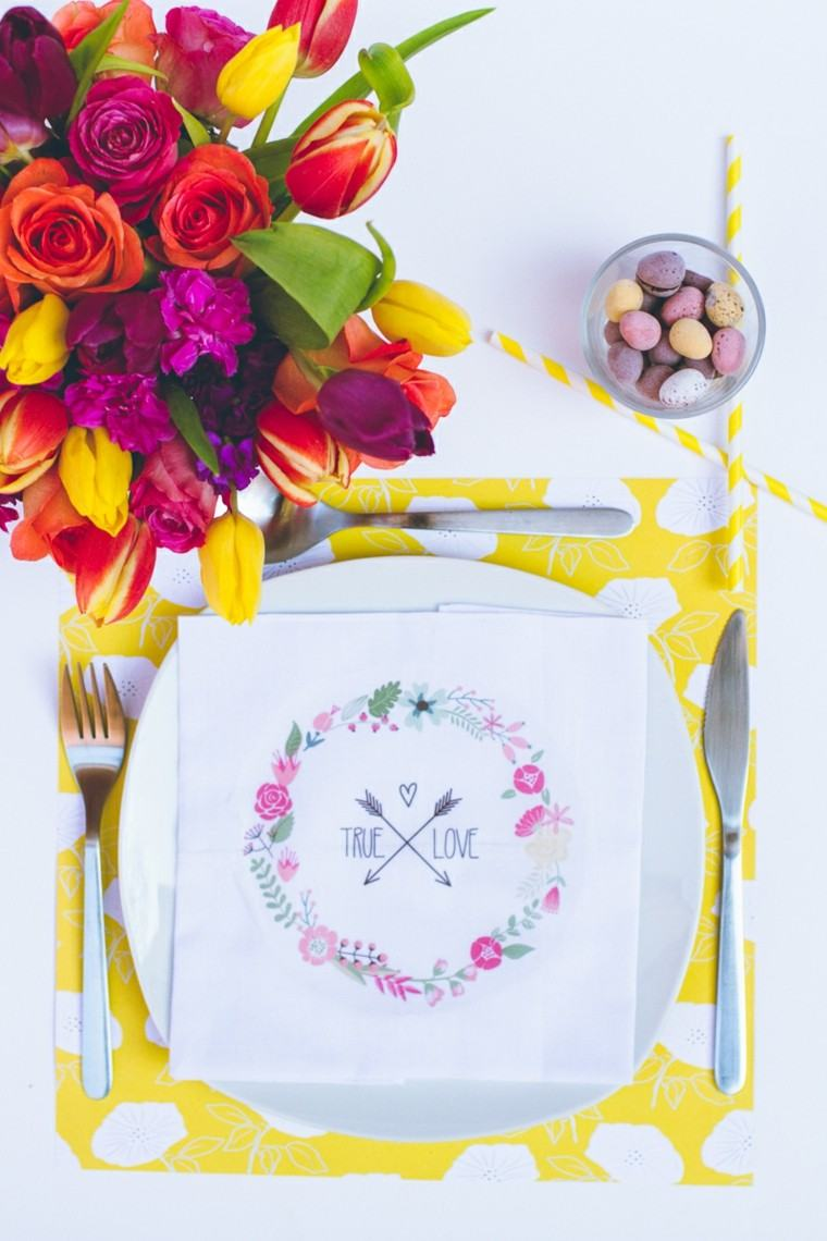 ramo flores mesa tulipanes rosas ideas