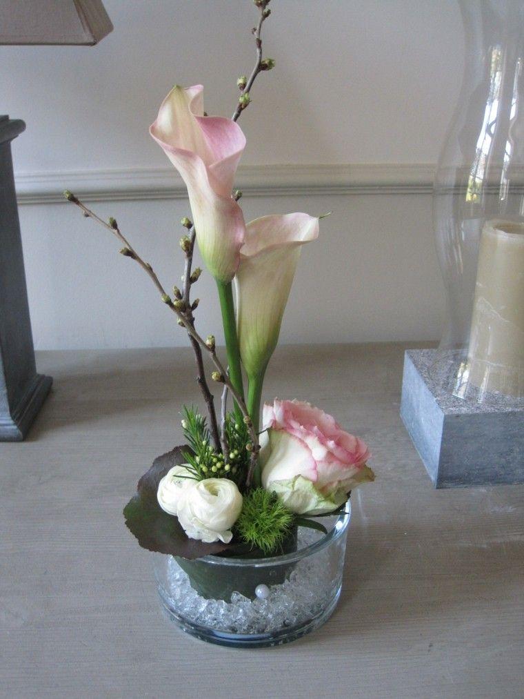 ramos de flores calas blancas altas ideas