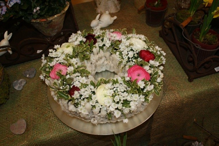 ramos de flores plato distintos colores ideas