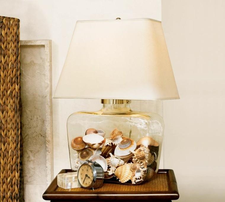 reloj conchas botella salon caracoles