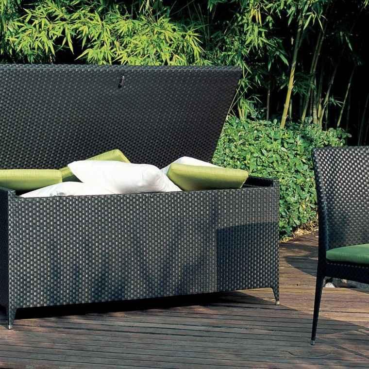 resina ratan negro bambu muebles