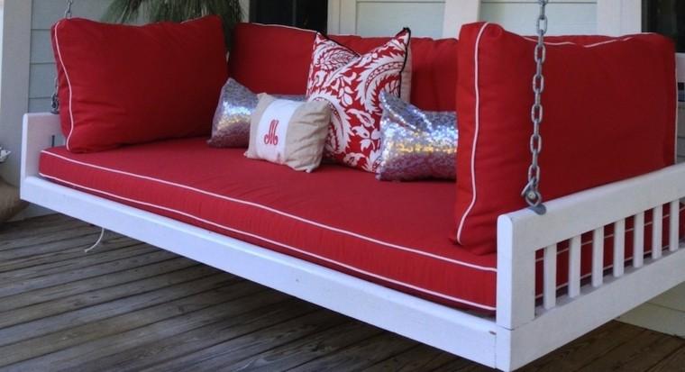 rojo intenso blanco lineas blanco