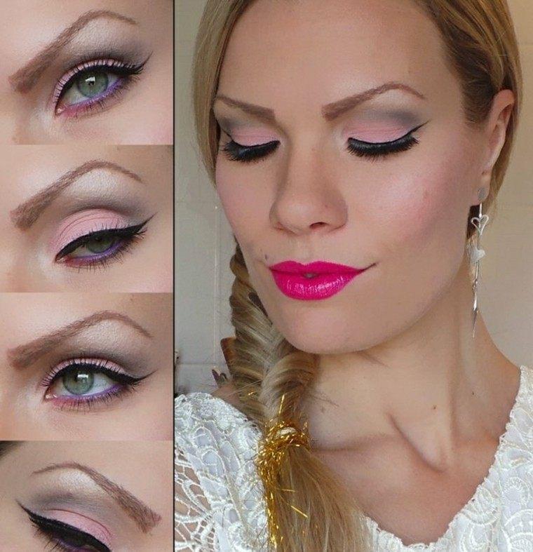 rosa mujer aretes elegante mujeres