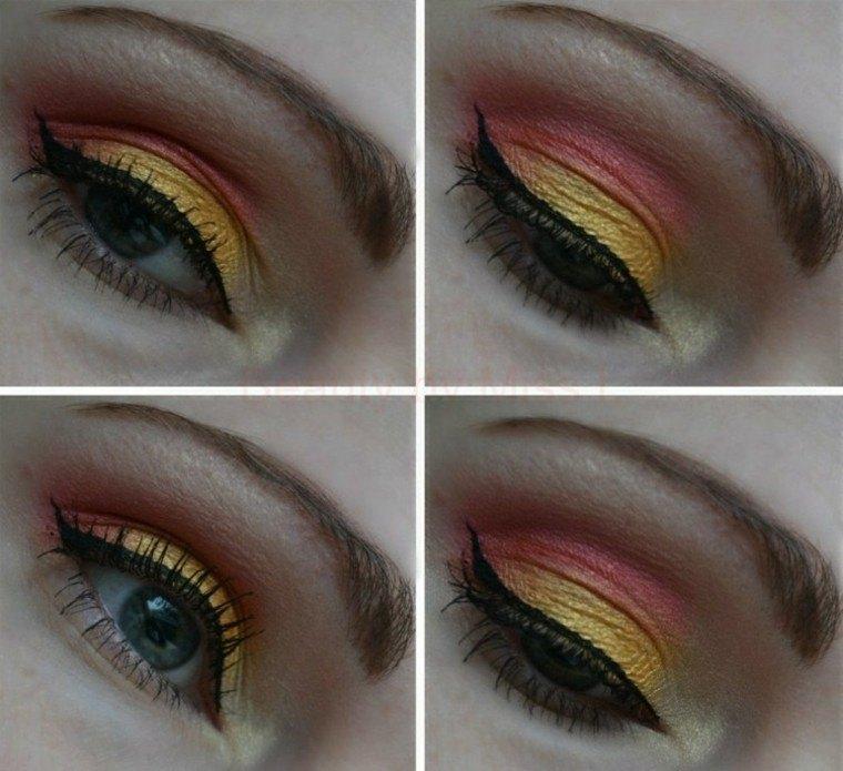 rosa ojos linea verano tropical colores