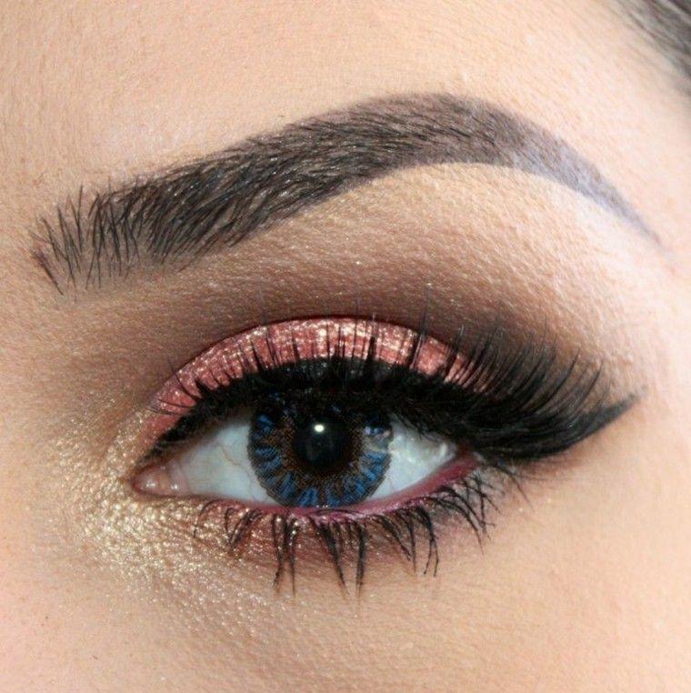 rosa oro lentes contacto dorado