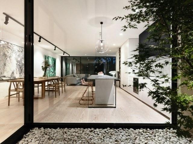 Casas modernas 50 ideas para decorar interiores for Cocinas con vista al jardin