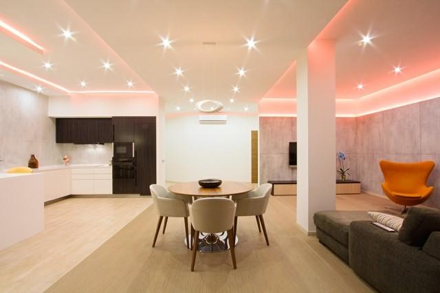 Casas modernas 50 ideas para decorar interiores - Decoracion iluminacion de interiores ...