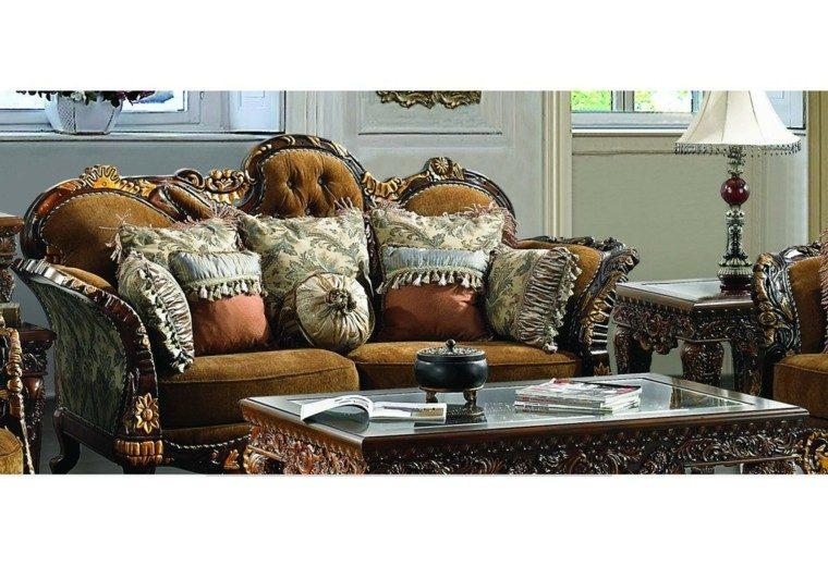 salon estilo victoriano clasico sofa mesa colores oscuros ideas