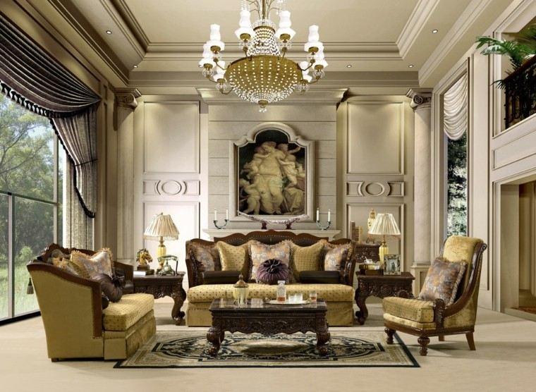 salon estilo victoriano cojines sofa sillones ideas