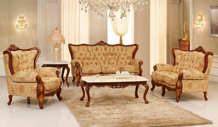 salon estilo victoriano colores gama beige muebles ideas