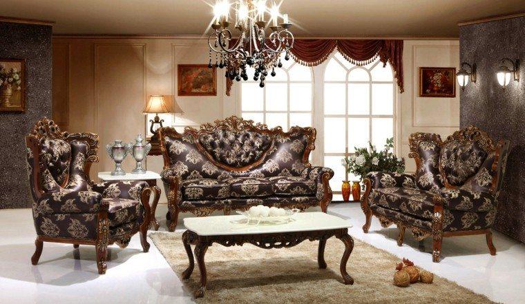 salon estilo victoriano muebles estampas preciosas ideas