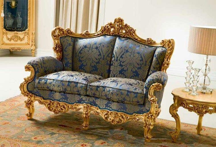 salon estilo victoriano sofa mesita oro ideas