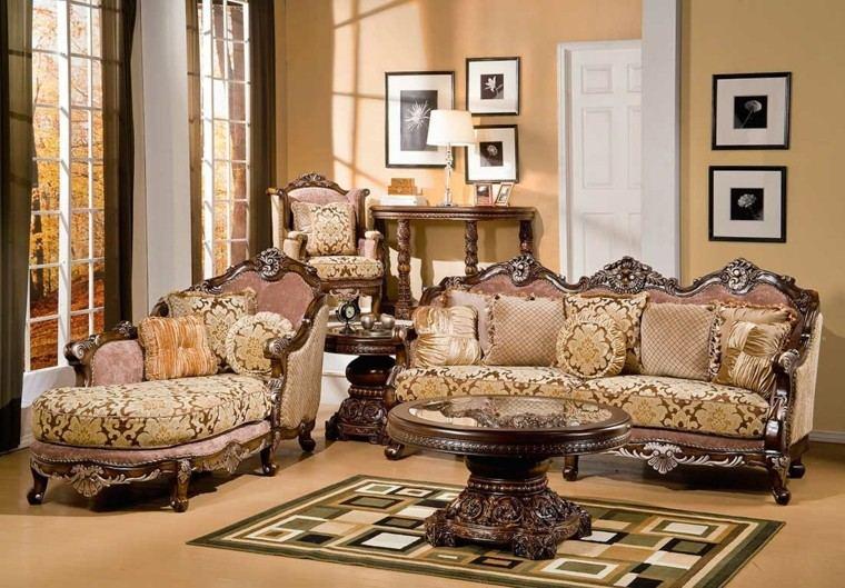salon estilo victoriano sofas mesa redonda ideas