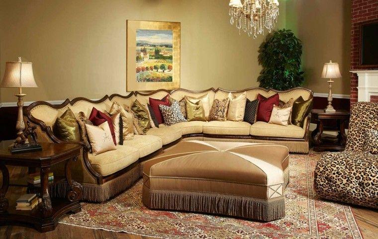 salon estilo victoriano taburete grande sofa ideas