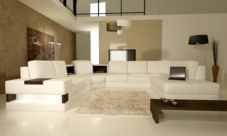 diseño salon moderno colores neutros