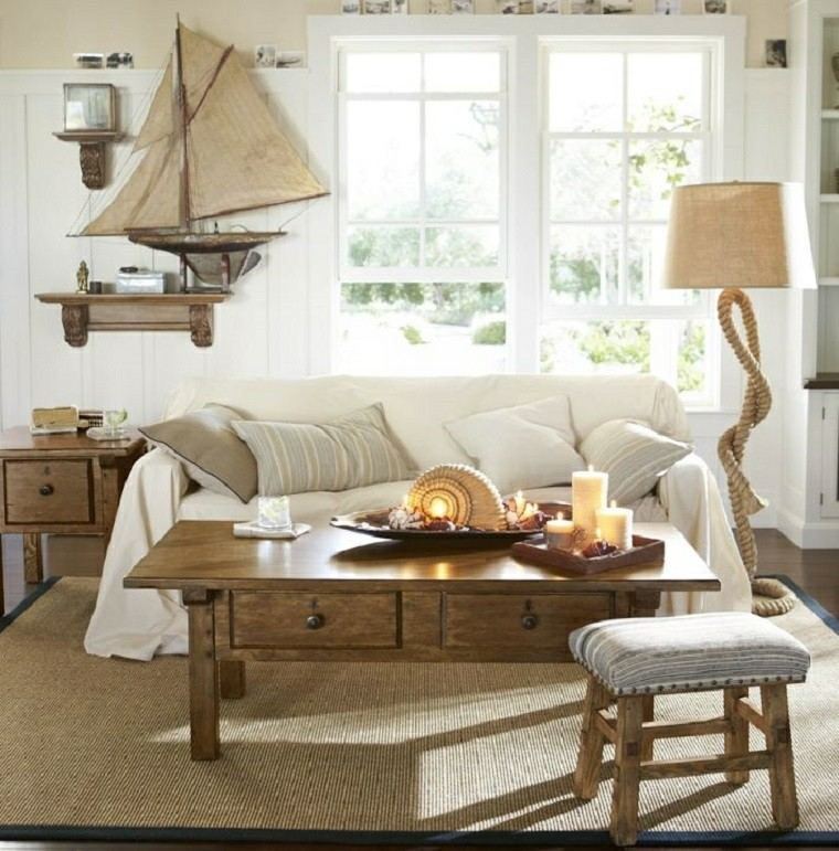 salon moderno decoracion barco lampara preciosa ideas