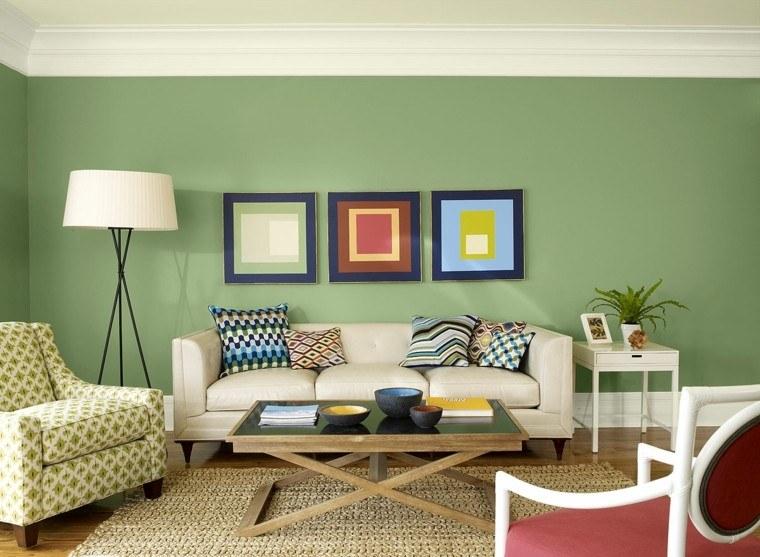salon moderno pintura verde