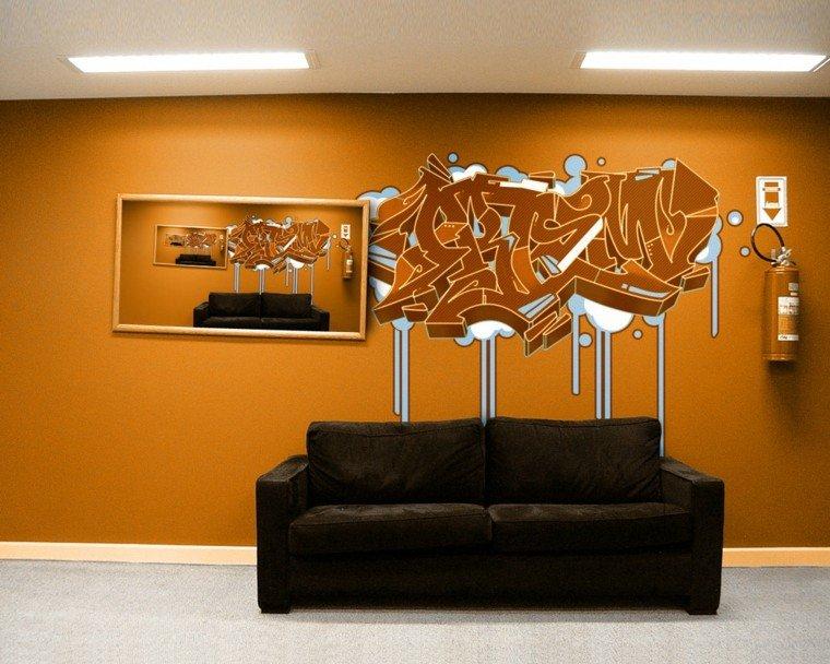 Graffiti ideas de arte para las paredes de casa - Dibujos de vinilo para paredes ...