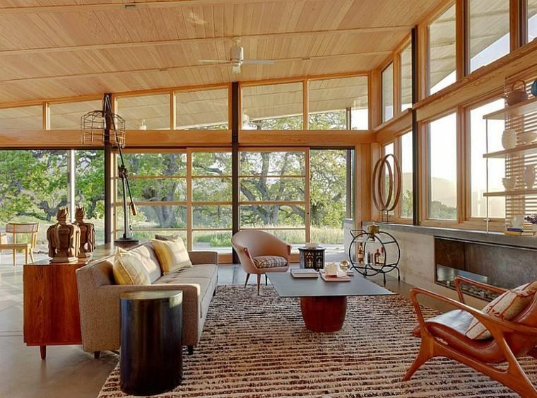 salones de diseño escandinavo luminoso colores beige ideas