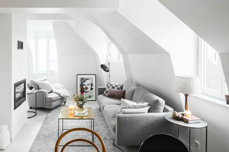salones diseno escandinavo elegante sofa comodo ideas