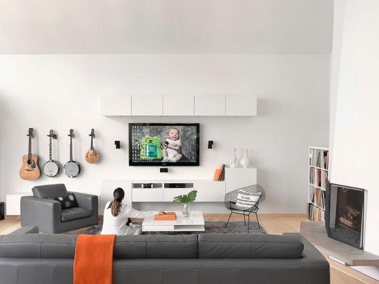 salones diseno escandinavo sofas butacas grandes ideas