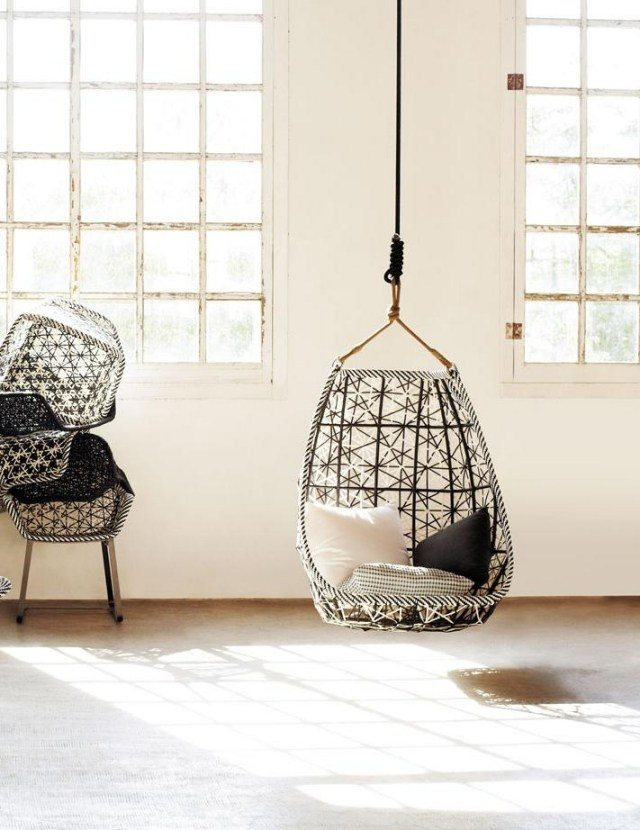 Columpios y sillas colgantes para el jard n 50 ideas for Silla columpio