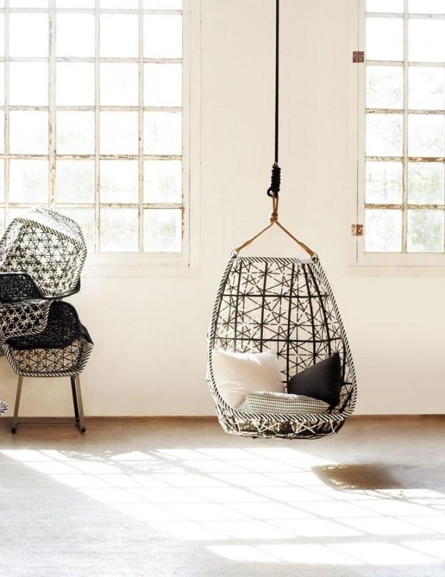 silla colgante interior blanco columpios