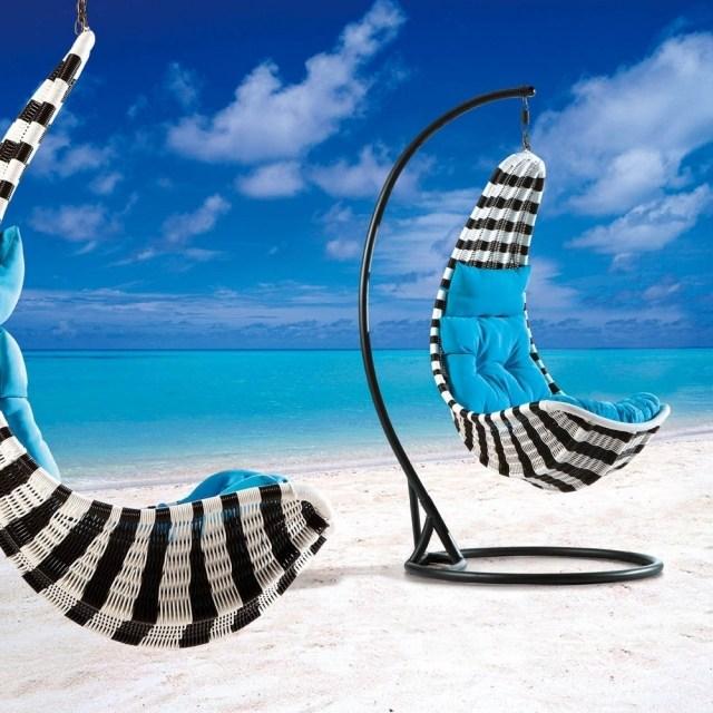 silla colgante diseño motivos cebra