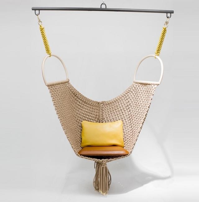 silla colgante tela crochet diseño