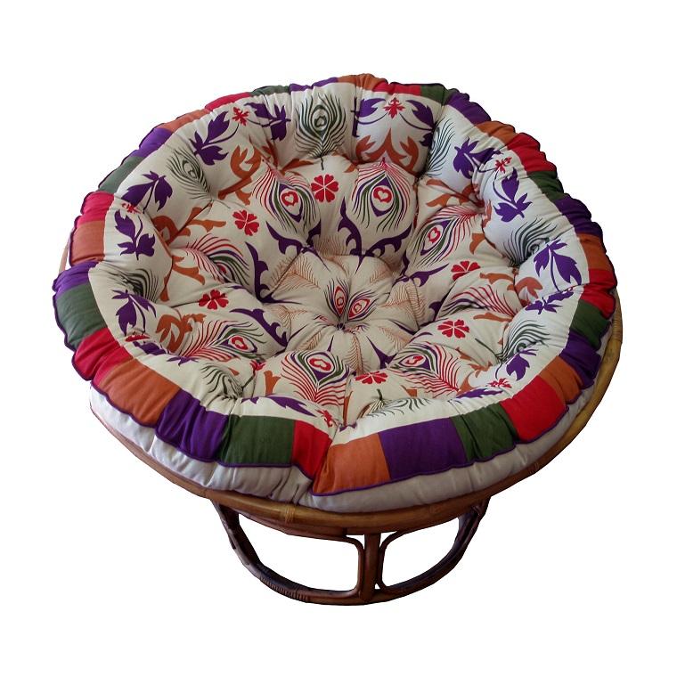 silla pavo cojin grande colores vibrantes ideas