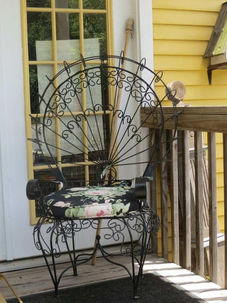 silla pavo negra metal estilo victoriano ideas