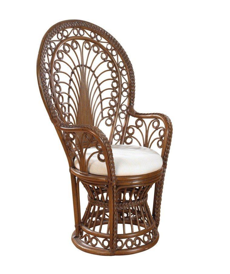 silla pavo ratan resistente espacios exteriores ideas