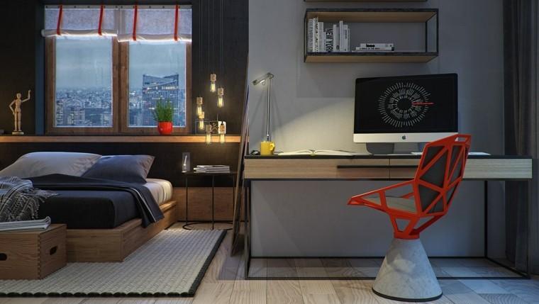 silla roja escritorio moderna diseño