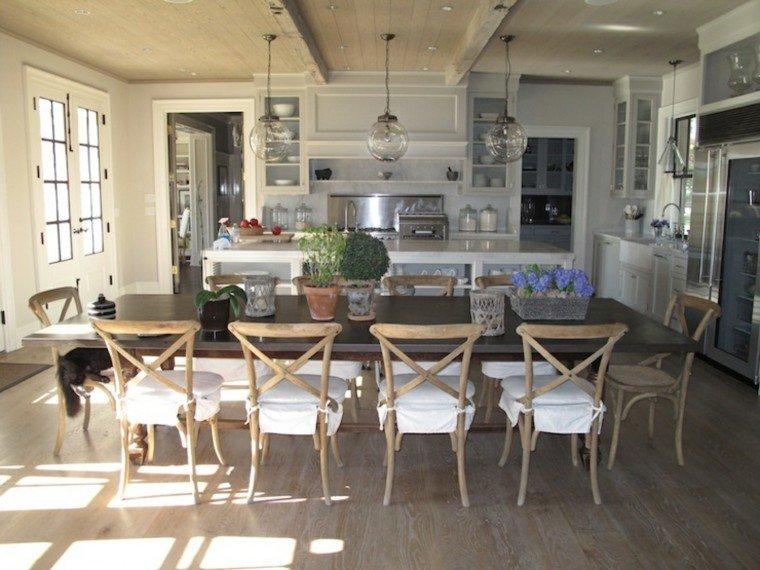 sillas estilo campestre cocina rustico