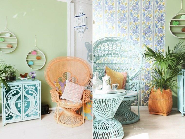 sillas pavo preciosas interesantes ideas modernas