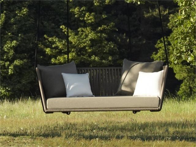sillon sofa colgante mimbre jardin