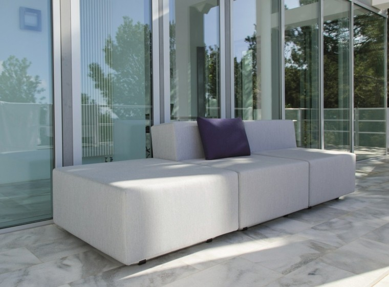 sofa color gris interiores exteriores perfecta ideas