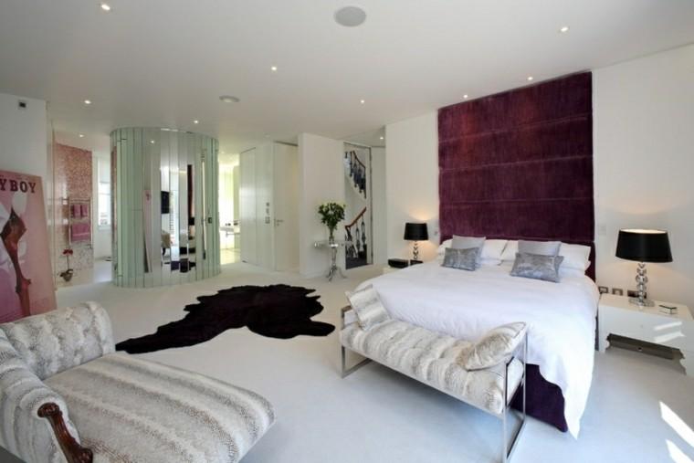 sofa piel led luminoso pared contraste