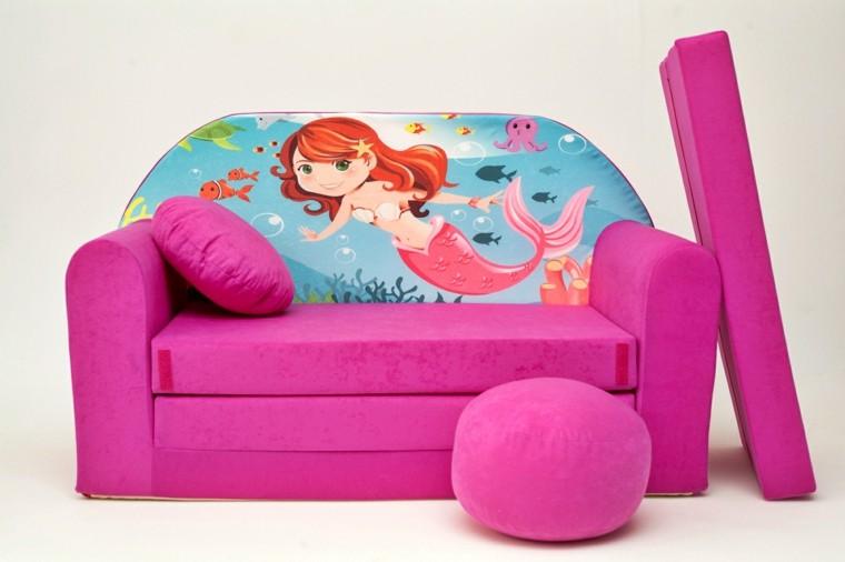 sofa rosa nino cojin rosa habitacion ideas