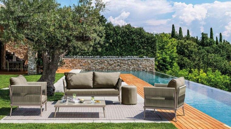Canap s sof s y sillones 50 ideas para exteriores modernos for Sillones para terrazas y jardines