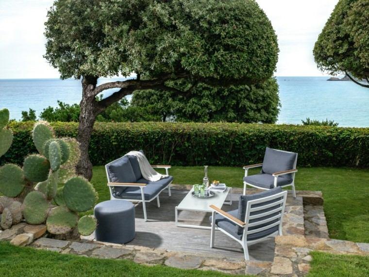 sofa sillones taburete jardin cesped ideas