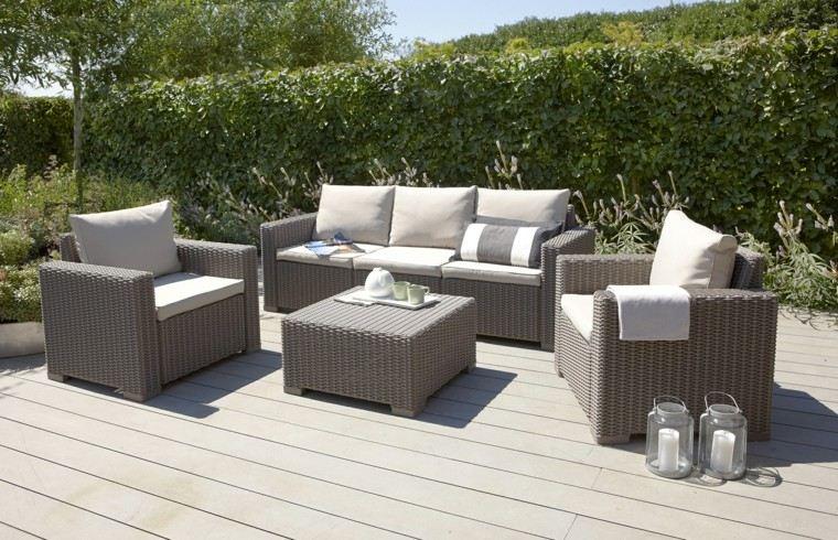 Sofas jard n acogedor y moderno con muebles preciosos for Cojines jardin