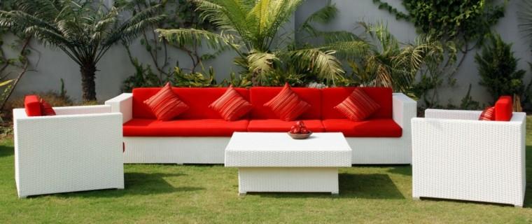 sofas jardín color blanco rattan ideas