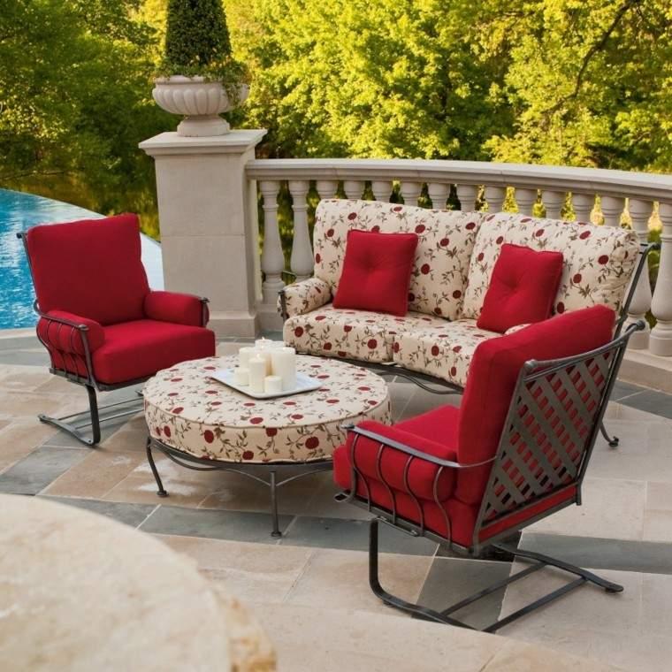 sofas jardin ideas pequenas muebles acero moderna