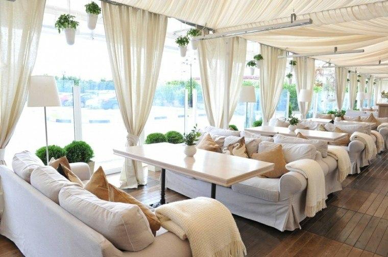 sofas jardín perfectas interiores exteriores blancas ideas